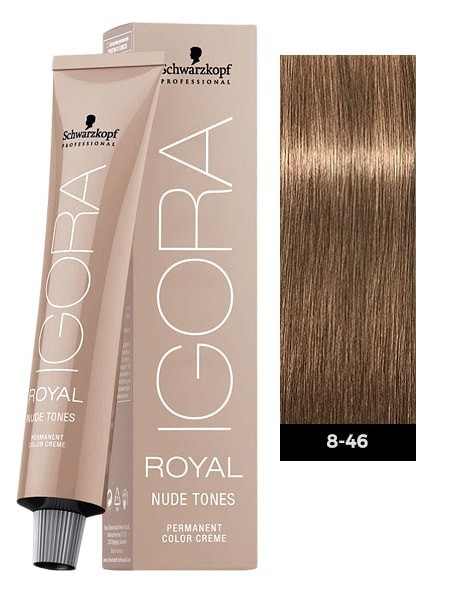 Schwarzkopf Igora Royal Nude Tones 8-46 Light Blonde Beige Chocolate