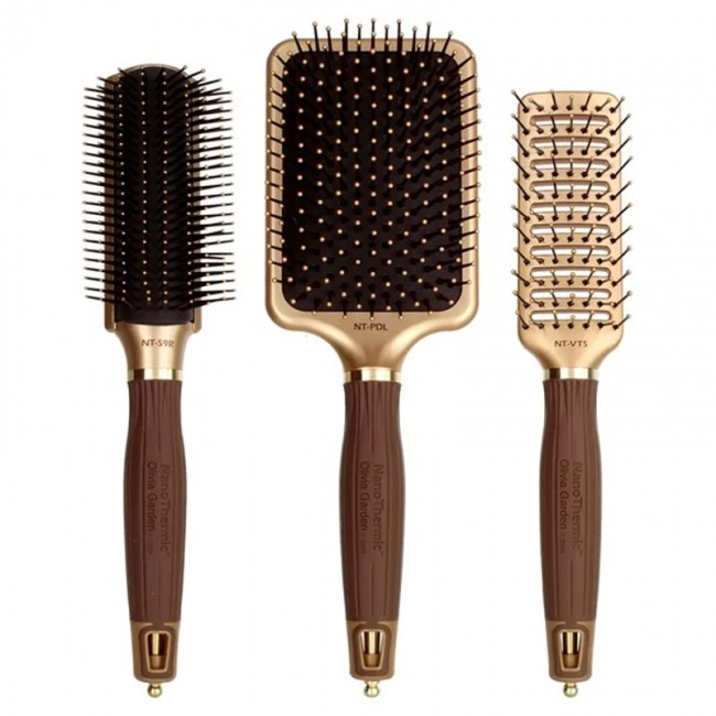 Olivia Garden Nanothermic Ceramic Ion Styler Hair Brush Free