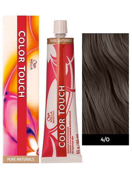 Wella Color Touch Demi-Permanent Hair Color - 4/0 Medium Brown/