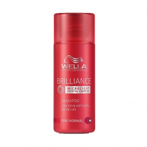 Wella Brilliance Microlight Crystal Complex Shampoo for Fine to Normal Hair - 1.7 oz