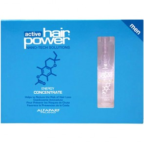 Alfaparf Active Hair Power Energy Concentrate for Men, Box of 6 Vials x 10ml