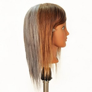 Celebrity Tammie Mannequin Head Quad-Color 100% Human Hair
