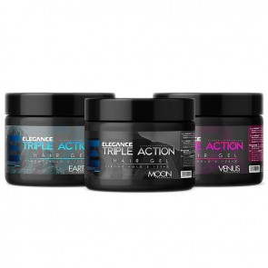 Elegance Triple Action Gel Strong Hold - Silver Blue & Pink