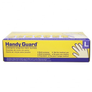 Handy Guard Synthetic Stretch Vinyl Gloves 100 Count - Large