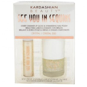 "Kardashian Beauty ""See You In Sequins"" Shimmer Lip Gloss and Nail Polish Crystal 350"