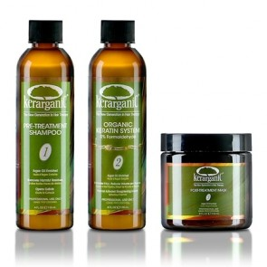Kerarganic Formaldehyde Free Organic Keratin Treatment Set for Damaged Hair 4 oz