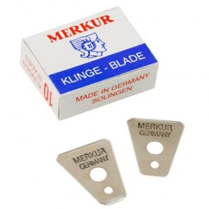Merkur Soligen Beard and Moustache Razor Replacement Blades 10 ct