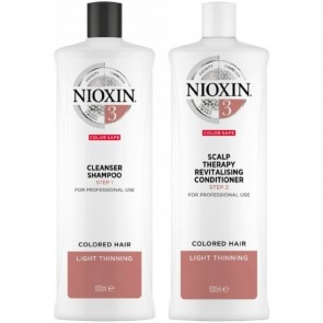 Nioxin System 3 Cleanser & Scalp Therapy Fine Normal to Thin-Looking Hair - SET