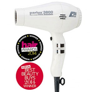 Parlux 3800 Ionic and Ceramic Professional Hair Dryer White