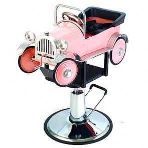 Pibbs Kid's Pink Car Hydraulic Chair