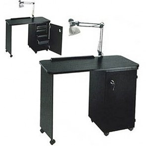 Pibbs Nail Center with Locking Cabinet