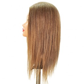 Celebrity Sam-II Mannequin Head 100% Human Hair 21