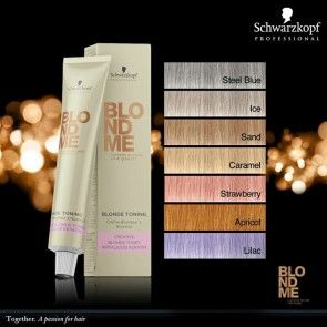 Schwarzkopf BlondMe Blonde Toning Hair Color Creme 60ml (Old Packaging)