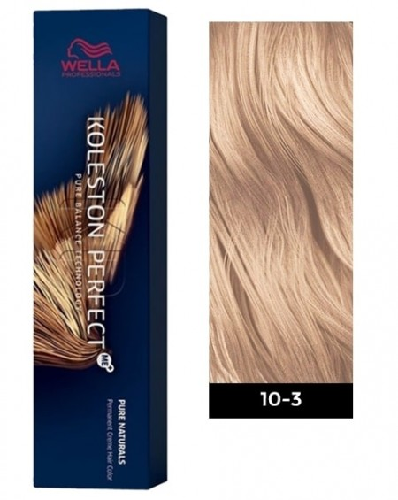 Wella Koleston Perfect ME+ Permanent Hair Color - 10/3 Lightest Blonde/Gold