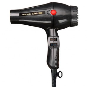 Turbo Power Twin Turbo 3200 Hair Dryer Black 324A