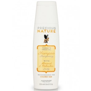 Alfaparf Precious Nature Sicily Shampoo with Almond & Pistachio - Recommended for Colored Hair - 250 mL (8.45 oz)