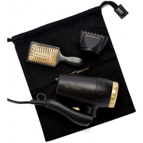 Bio Ionic Gold Pro Travel Dryer with Free Brush